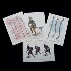 Chronicles of Narnia: The Lion, the Witch and the Wardrobe, The – Weta Workshop Design Prints - A149