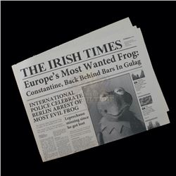 """Muppets Most Wanted – """"The Irish Times Newspaper"""" Featuring Kermit The Frog - A62"""