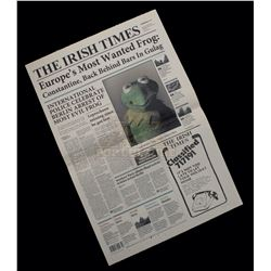 """Muppets Most Wanted – """"The Irish Times Newspaper"""" Featuring Kermit The Frog - A67"""