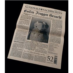 Muppets Most Wanted – Prop Newspaper Featuring Kermit The Frog - A23