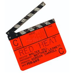 Red Heat – Production Used Clapper Board - A176