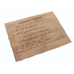 Sleepy Hollow – Prop Marriage Certificate - A185