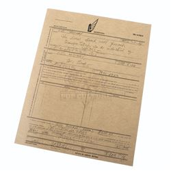 """Starship Troopers – Prop """"Desertion"""" Document - A328"""