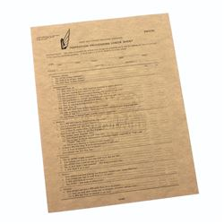 """Starship Troopers – Prop """"Inspection Processing Check Sheet"""" Document - A332"""