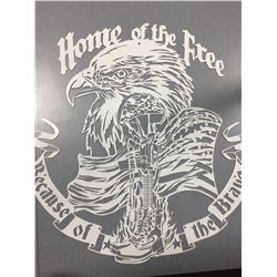 """Home of the Free"" Metal Art"