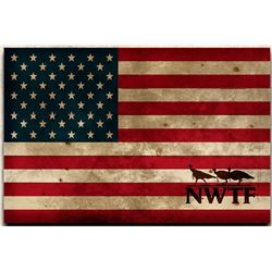 NWTF American Flag Wooden Wall Hanging