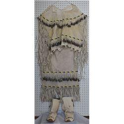 APACHE INDIAN HIDE DRESS