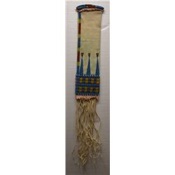 CROW INDIAN BEADED HIDE TOBACCO BAG