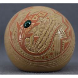 JEMEZ INDIAN POTTERY SEED JAR (GLENDORA DAUBS)