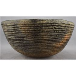 MIMBRES CORRUGATED POTTERY BOWL