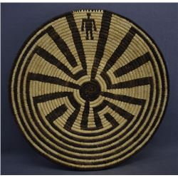 PAPAGO INDIAN BASKETRY PLAQUE