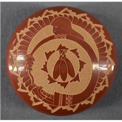 SANTA CLARA INDIAN POTTERY SEED JAR (DEBRA DUWYENIE & HARVEY CHAVARRIA)