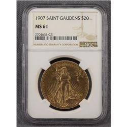 TWENTY DOLLAR GOLD SAINT GAUDENS COIN