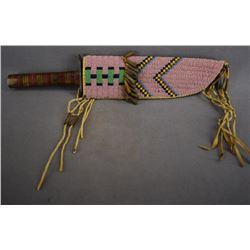 CROW INDIAN KNIFE SHEATH AND KNIFE