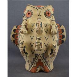 JEMEZ INDIAN POTTERY OWL (PERSINGULA GACHUPIN)