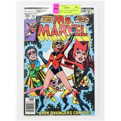MS. MARVEL # 18 1ST APPERANCE MS.MARVEL AND 2 MORE