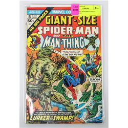 GIANT-SIZE SPIDERMAN # 5 VS MAN-THING