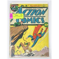 ACTION COMICS # 38 WITH COVER COPY