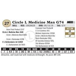 Circle L Medicine Man G74