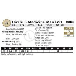 Circle L Medicine Man G91