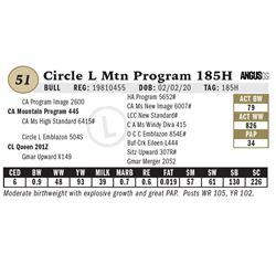 Circle L Mtn Program 185H