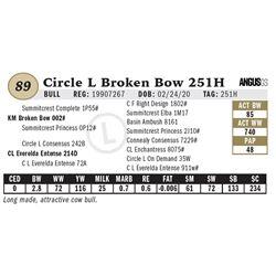 Circle L Broken Bow 251H