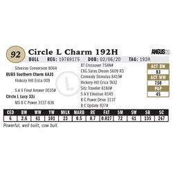 Circle L Charm 192H