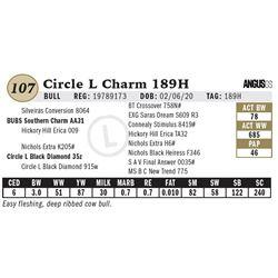 Circle L Charm 189H