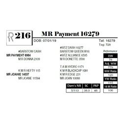 MR Payment 16279