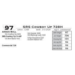 SRS Cowboy Up 728H