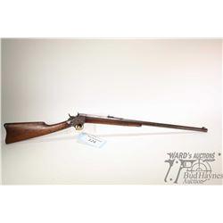 "Non-Restricted rifle Remington .22 LR single shot rolling block, w/ bbl length 24"" [Blued octagonal"