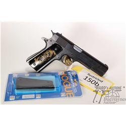 Restricted handgun Norinco model 1911A1, .45 seven shot semi automatic, w/ bbl length 127mm [Blued f