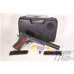 Restricted handgun German Sports Guns model GSG-1911, 22LR ten shot semi automatic, w/ bbl length 12
