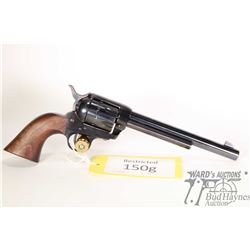 Restricted handgun Pietta model SAA, 22LR ten shot single action revolver, w/ bbl length 190mm [Blue