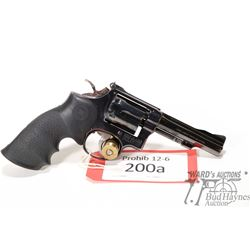 Prohib 12-6 handgun S&W model 18-4, .22 LR six shot double action revolver, w/ bbl length 101mm [Blu