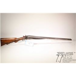 "Non-Restricted shotgun Wilmot Gun Co. model SXS, 12Ga two shot hinge break, w/ bbl length 26"" [Blued"