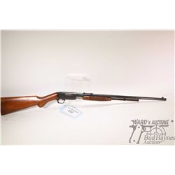"""Non-Restricted rifle FN Browning model Trombone, .22 L pump action, w/ bbl length 22"""" [Blued barrel"""