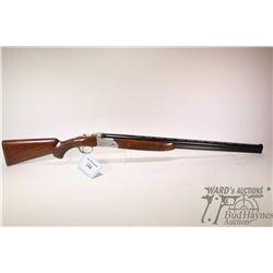 """Non-Restricted shotgun SKB (Ithica) model 600, 20Ga 3"""" two shot hinge break, w/ bbl length 28"""" [Blue"""