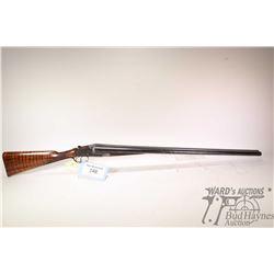 "Non-Restricted shotgun William Evans model SXS, 12Ga 3"" two shot hinge break, w/ bbl length 32"" [Blu"