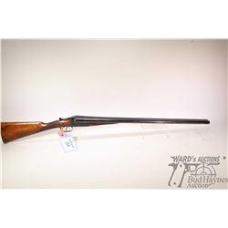 """Non-Restricted shotgun F.T Baker model SXS, 12Ga 2 1/2"""" two shot hinge break, w/ bbl length 30"""" [Blu"""