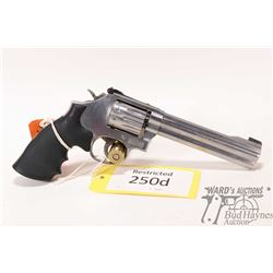Restricted handgun S&W model 617-6, 22LR ten shot double action revolver, w/ bbl length 152mm [Stain