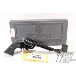 Restricted handgun Ruger model New Model Single-Six, .22LR / 22 Win Mag. six shot single action revo