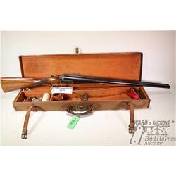 "Non-Restricted shotgun Charles Dawson model Custom Made Boxlock, 12Ga 2 3/4"" two shot hinge break, w"