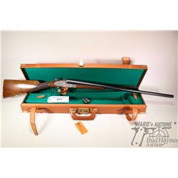 "Non-Restricted shotgun AYA model SXS, 12Ga, 2 3/4"" two shot hinge break, w/ bbl length 28"" [Blued  f"