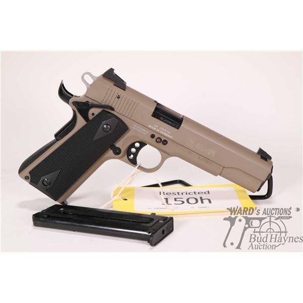 Restricted handgun GSG model GSG-1911, 22LR ten shot semi automatic, w/ bbl length 127mm [Tan finish