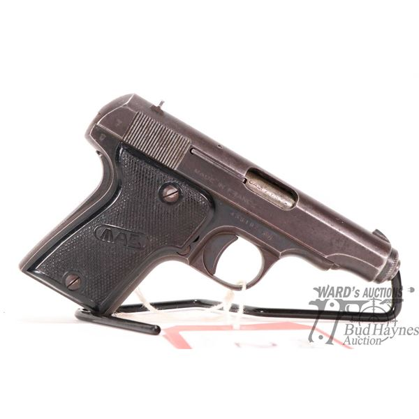 Prohib 12-6 handgun MAB model C, 7.65mm nine shots semi automatic, w/ bbl length 83mm [Blued finish
