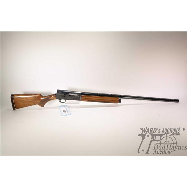 "Non-Restricted shotgun Browning model Auto-5, 12Ga 3"" semi automatic, w/ bbl length 31 1/2"" [Blued u"