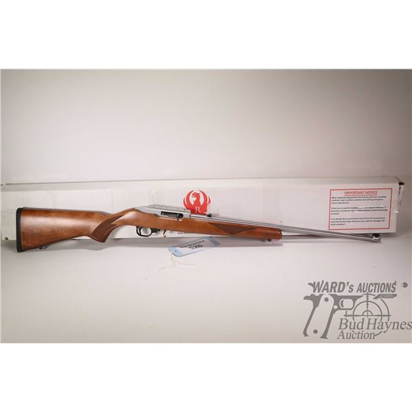 """Non-Restricted rifle Ruger model 10/22, 22LR ten shot semi automatic, w/ bbl length 22"""" [Stainless s"""