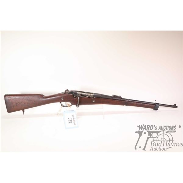 """Non-Restricted rifle Le Etienne model 1891, 8X50mm (7.5X54 French) bolt action, w/ bbl length 18"""" [B"""