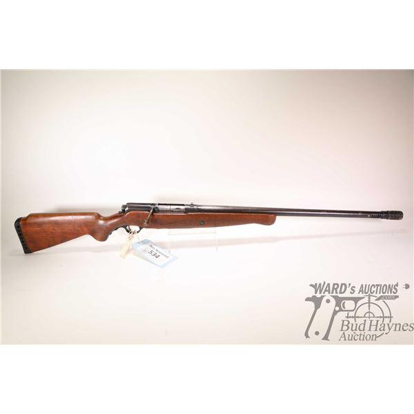 """Non-Restricted shotgun Mossberg model 195, 12Ga 2 3/4"""" No Mag bolt action, w/ bbl length 26"""" [Blued"""